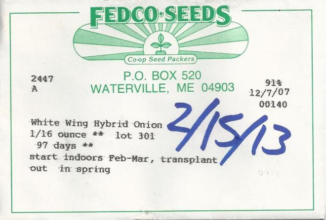 onion seed packet