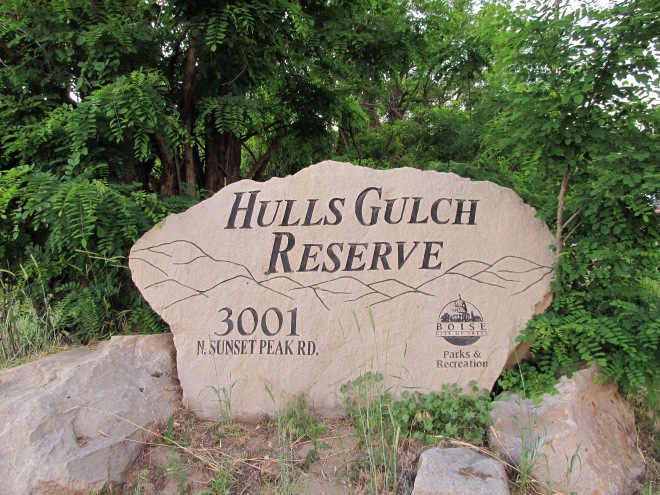 The trail that I hiked is one of several trails in an area of the Boise Foothills called Hulls Gulch Reserve.