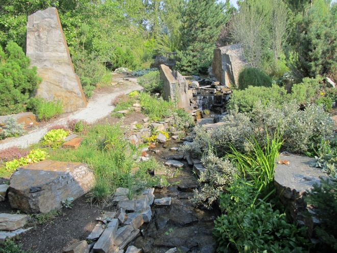 Water feature in the Garden of Infinite Compassion, built in honor of the Dali Lama's visit to the Wood River Valley