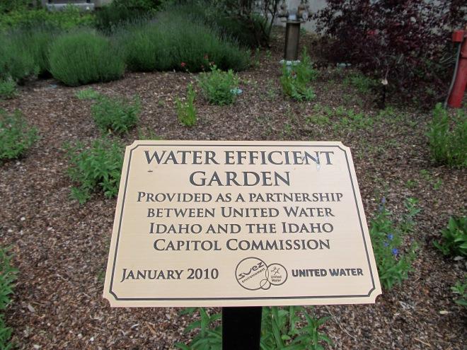 water efficient garden sign