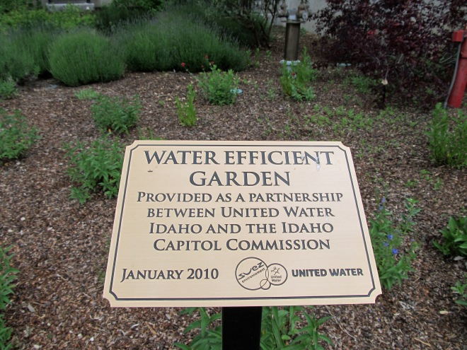 water efficient garden sign