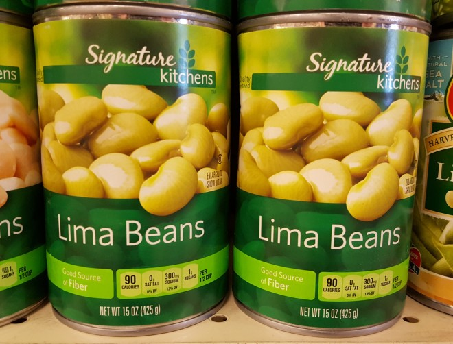 lima beans in cans