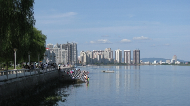 Zhan Wang went to middle school and high school in Dandong City, Liaoning Province (photo credit: wikimedia commons)
