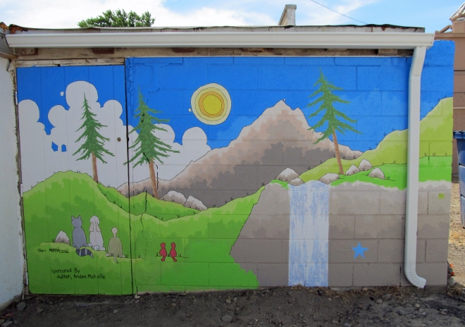 My dad's mural in downtown Mountain Home, Idaho