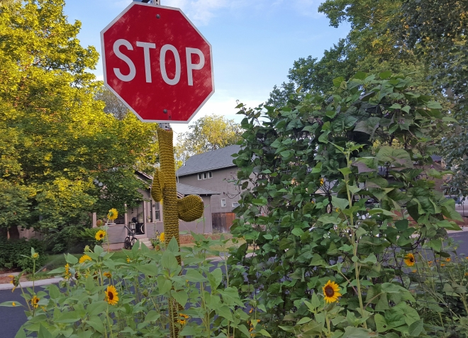 Stop sign in Sunset Neighborhood in Boise, Idaho