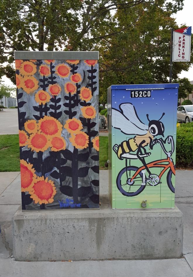Utility boxes in downtown Boise, Idaho